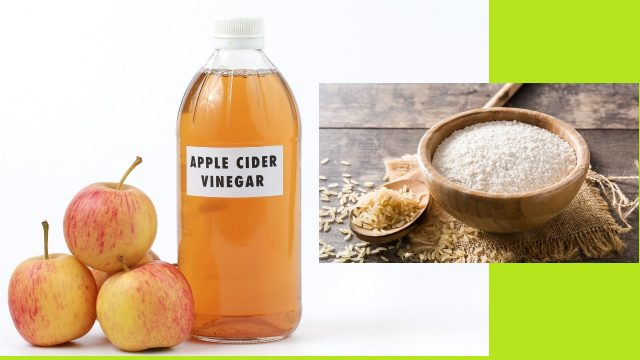 Apple Cider Vinegar with Coarsely Ground Rice Flour fungal infection treatment