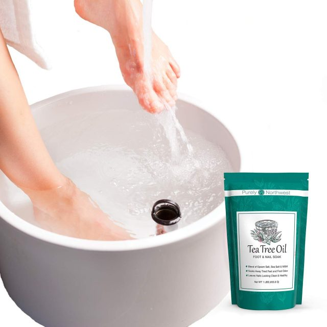 Purely Northwest Tea Tree Oil Foot Soak with Epsom Salt for fungal infections