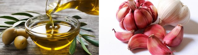 nail fungus treatment with Olive Oil and Garlic Mix
